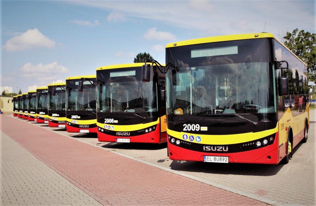 Největší flotila 42 autobusů ISUZU NovoCiti Life jezdí v současnosti v polské metropoli Lodž. Ve městě se 700 000 obyvateli autobusy ISUZU nyní obsluhují 10 linek (foto: MPK Lodž)