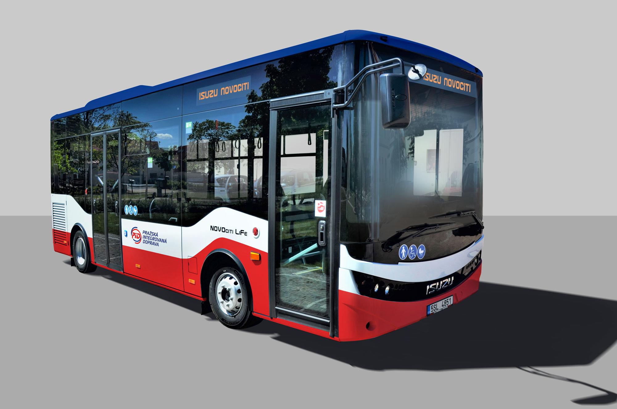 ISUZU NovoCiti Life, nový autobus pro Pražskou integrovanou dopravu (PID)